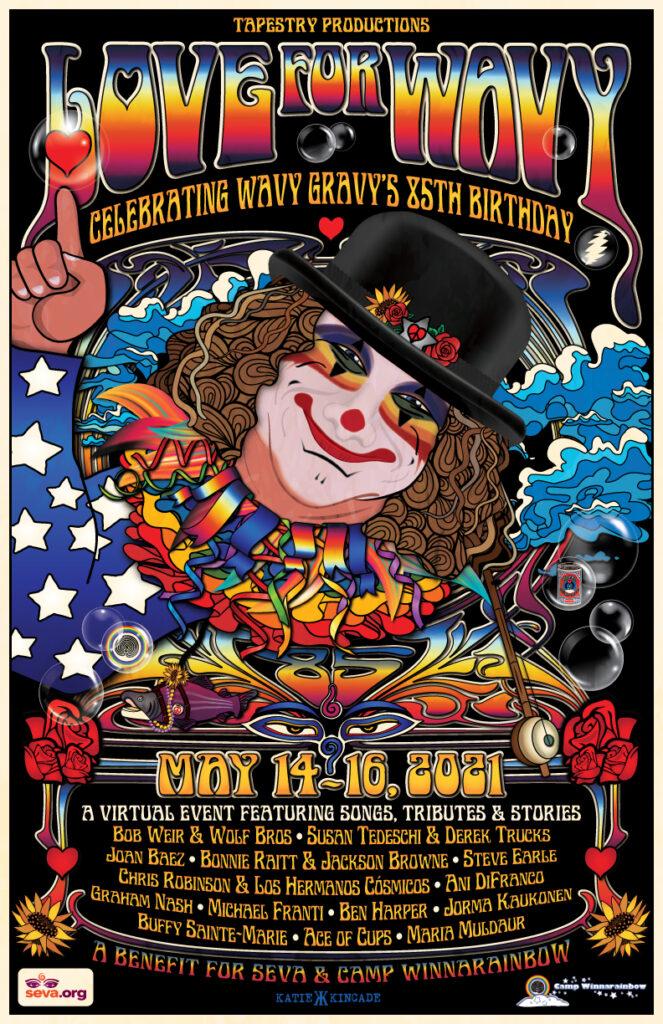 Wavy Birthday poster